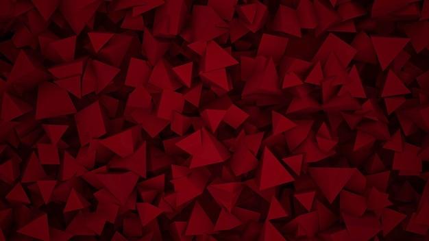 Dunkelrote geometrische formen, abstrakter hintergrund. eleganter und luxuriöser stil für geschäfts- und unternehmensvorlagen, 3d-illustration