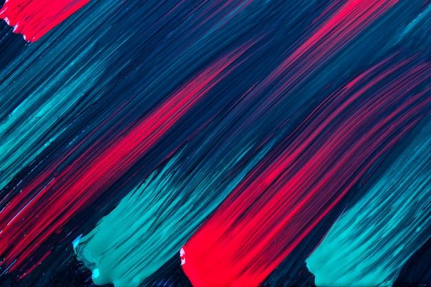 Dunkelrote und marineblaue farben des abstrakten kunsthintergrundes. aquarellmalerei auf leinwand mit türkisfarbenen strichen und spritzern. acrylbild auf papier mit punktmuster. textur-hintergrund.