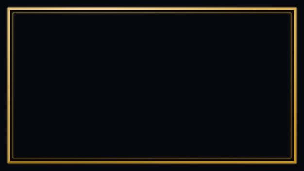 Dunkelschwarzer rahmen mit goldenem rand
