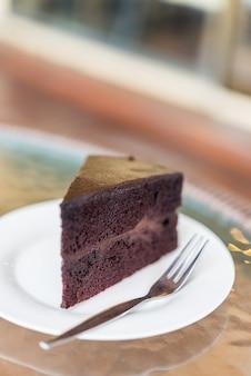 Dunkle schokoladenkuchen
