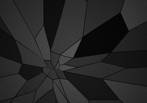 Dunkle töne der abstrakten hintergrundillustration der polygone