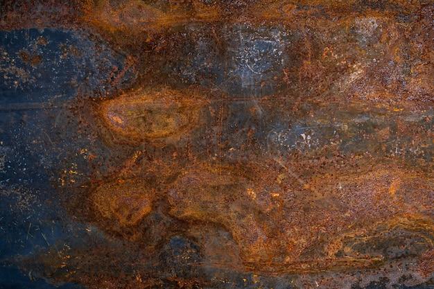 Dunkler getragener rostiger metallbeschaffenheitshintergrund.