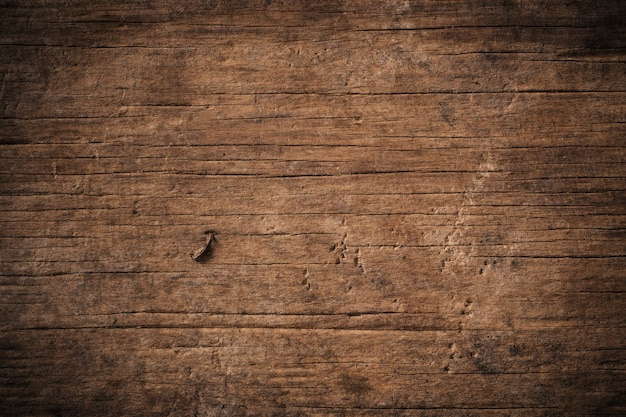Dunkler strukturierter holzhintergrund des alten schmutzes, die oberfläche der alten braunen holzbeschaffenheit, draufsicht braune teakholzverkleidung