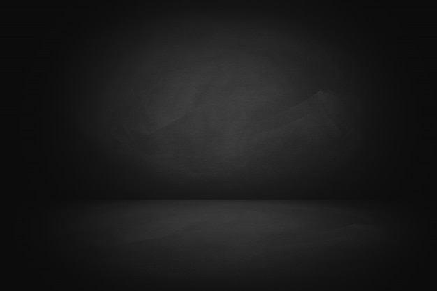 Dunkles kreidebrett mit studiohintergrund