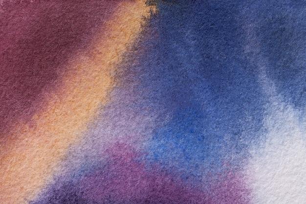 Dunkles purpur und blau des hintergrundes der abstrakten kunst färbt aquarellmalerei auf segeltuch