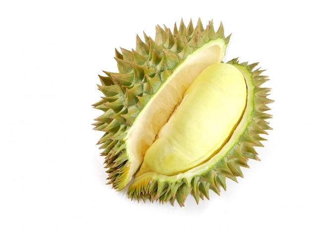Durian getrennt auf weißem hintergrund