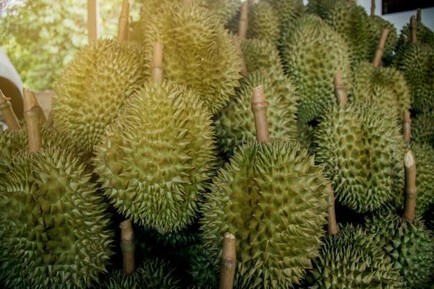 Durian mit grünen dornen