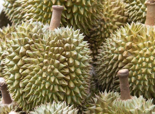 Durianfrucht auf dem markt