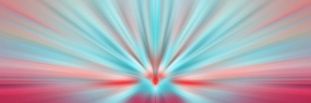 Dynamische blaue und rosa strahlen. ein blitz im weltraum geht in die richtige perspektive.