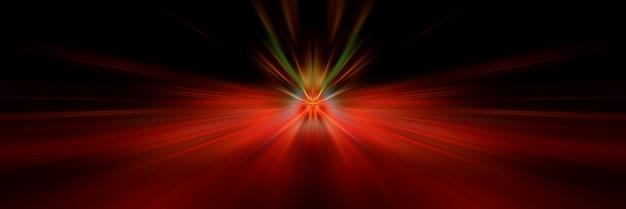 Dynamische schwarze und rote lichtlinien.