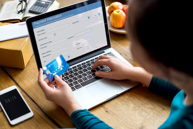 E-banking-zahlungs-finanz-website-verbindung