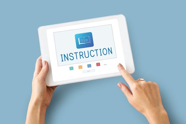 E-book online-lernen bildung wissensgrafik