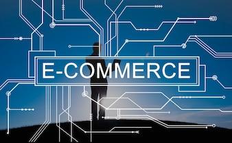 E-Commerce-on-line-Einkaufsverkaufs-Konzept