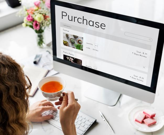 E-commerce online-shopping pflanzenverkauf
