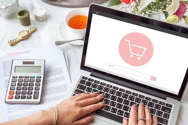E-commerce-shop online-homepage-verkaufskonzept