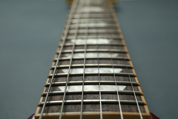 E-gitarrenhals, nahaufnahme