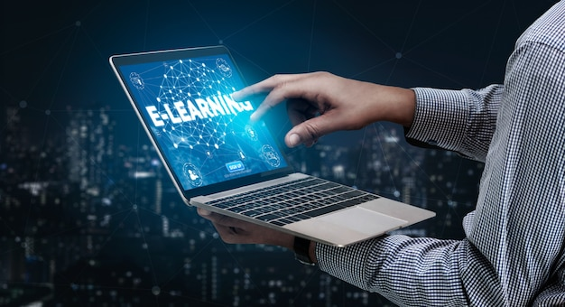 E-learning und online-bildung für studenten- und universitätskonzept