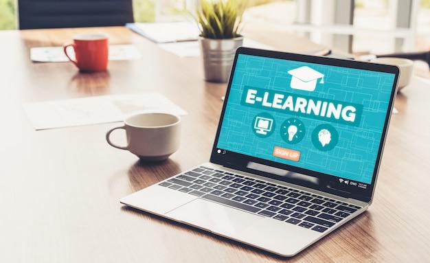 E-learning und online-bildung für studenten und universitätskonzept.
