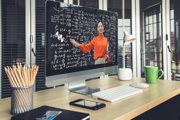 E-learning und online-bildung für studenten