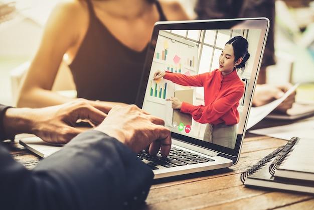 E-learning und online-business-präsentation