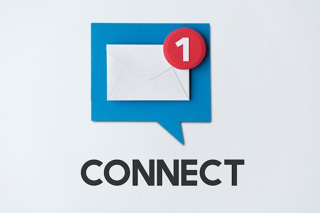 E-mail-benachrichtigungs-popup-erinnerungskonzept