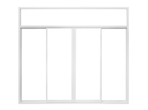 Echter moderner hausfensterrahmen isoliert