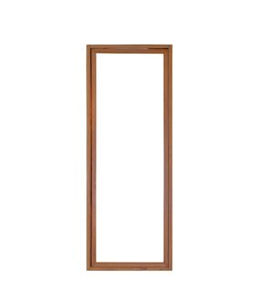 Echter weinleseholzglastürfensterrahmen lokalisiert auf weißem hintergrund