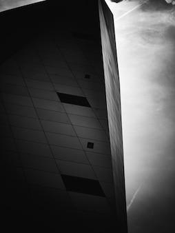 Ecke des modernen betongebäudes