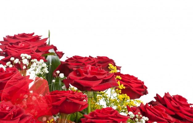 Ecke von roten rosen
