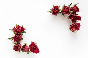 Ecken aus Rosen