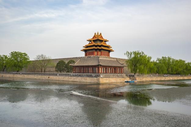 Eckturm der verbotenen stadt in peking, china