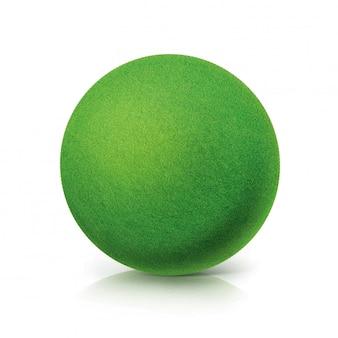 Eco grüne kugel auf weiß