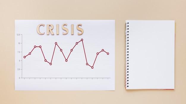 Economy chart bericht mit notebook