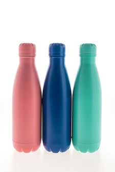 Edelstahlflasche und flasche