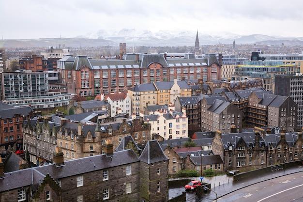 Edinburgh skylines, die schottland großbritannien aufbauen