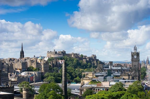 Edinburgh stadt von calton hill, schottland, großbritannien,