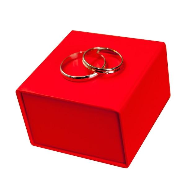 Eheringe in einer box