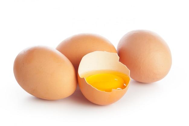 Ei auf weiß
