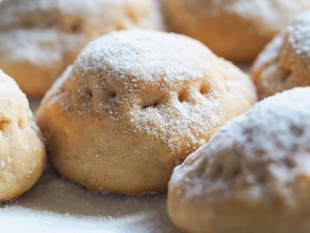 Eid muslimischer süßer kahk. arabische süßigkeiten für ramadan und eid. nahansicht.