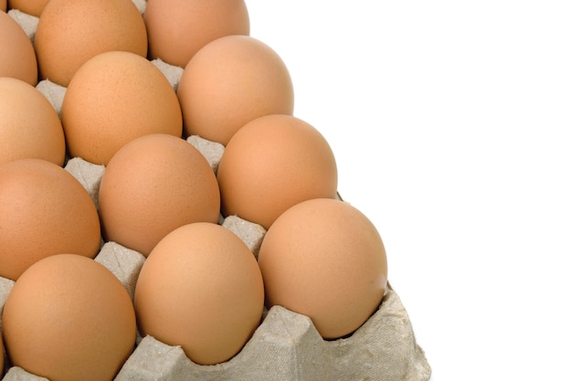 Eier in der eierplatte
