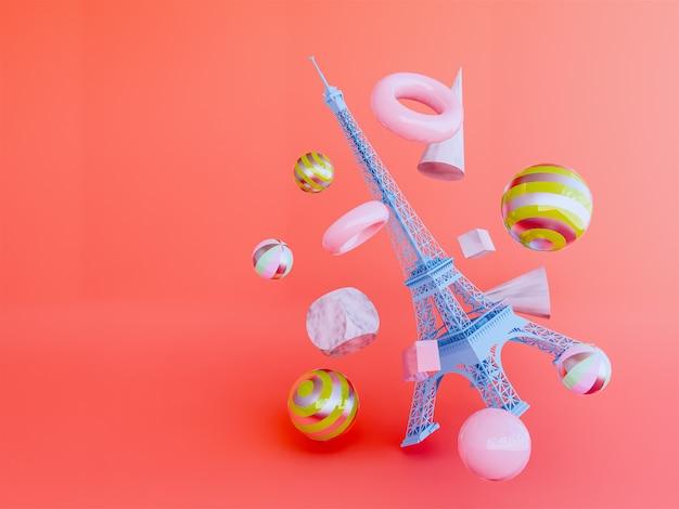 Eiffel 3d render.