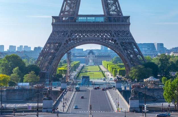 Eiffelturm und champ de mars