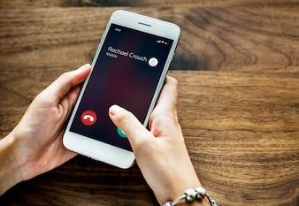 Ein anrufendes Mobiltelefon