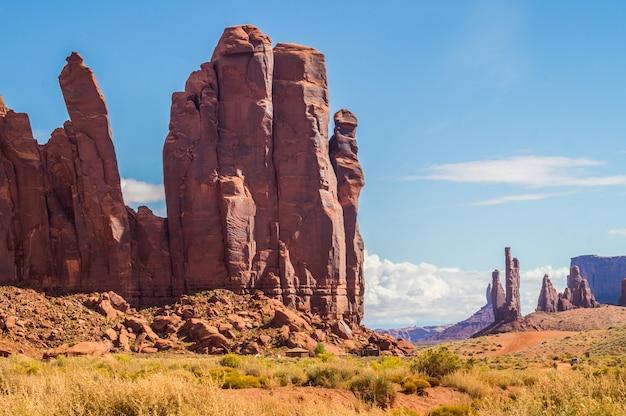 Ein blick auf den monument valley navajo tribal park
