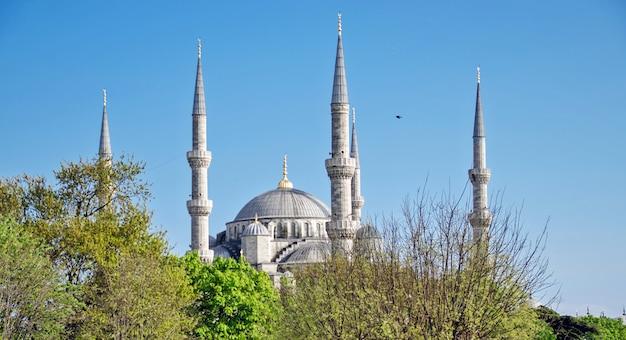 Ein blick auf die blaue moschee in istanbul