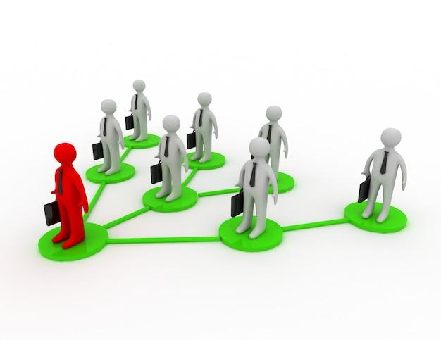 Ein business-team mit leader