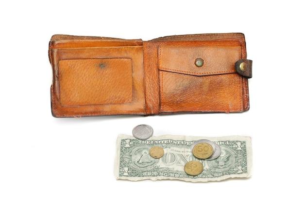 Ein dollar und eine brieftasche