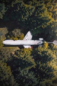 Ein flugzeug im wald in hillsboro, oregon, usa
