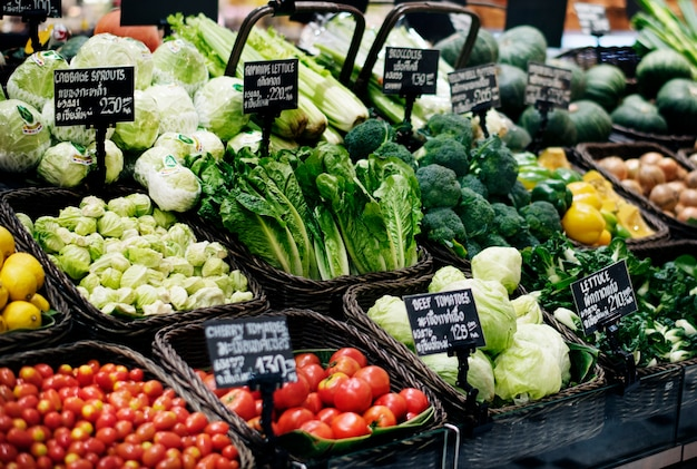 Ein frischer markt