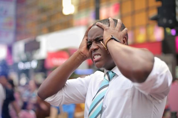 Ein gestresster mann
